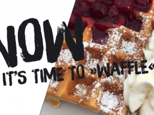 Now it's time to »waffle«